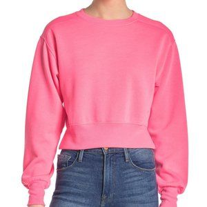 Socialite Cropped Crew Neck Sweatshirt